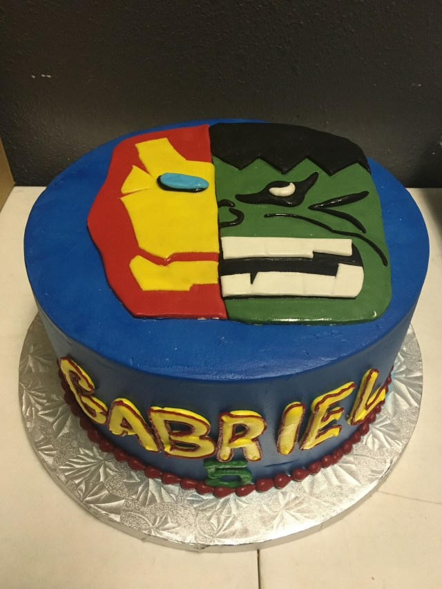 Iron Man Birthday Cake Hulk And Kids Cakes Pinterest