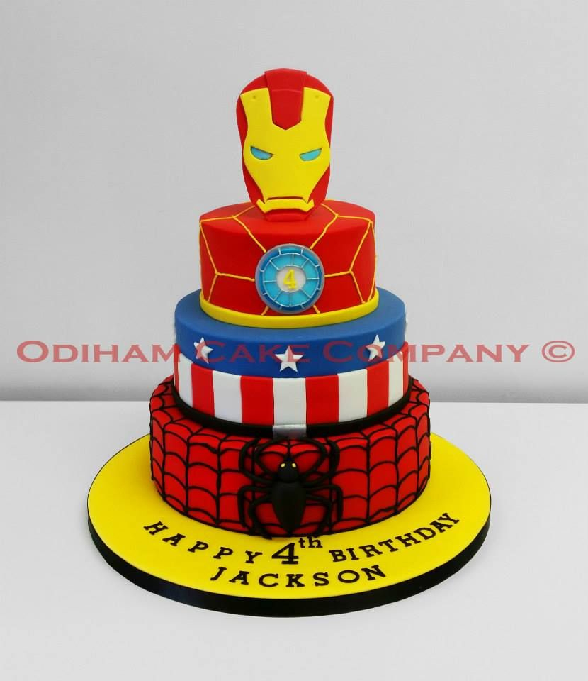 Incredible Iron Man Birthday Cake Occ Iron Man Captain America Spiderman 3 Funny Birthday Cards Online Elaedamsfinfo