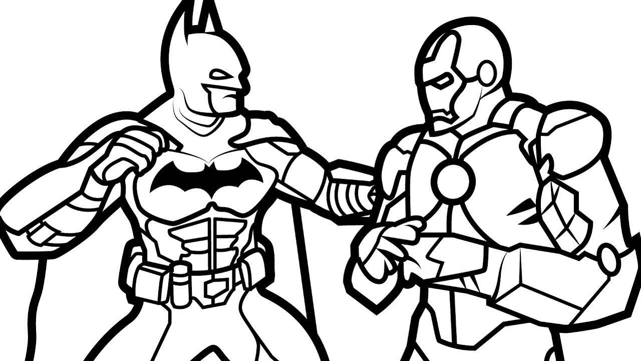 - Ironman Coloring Pages Batman Vs Iron Man Coloring Book Coloring