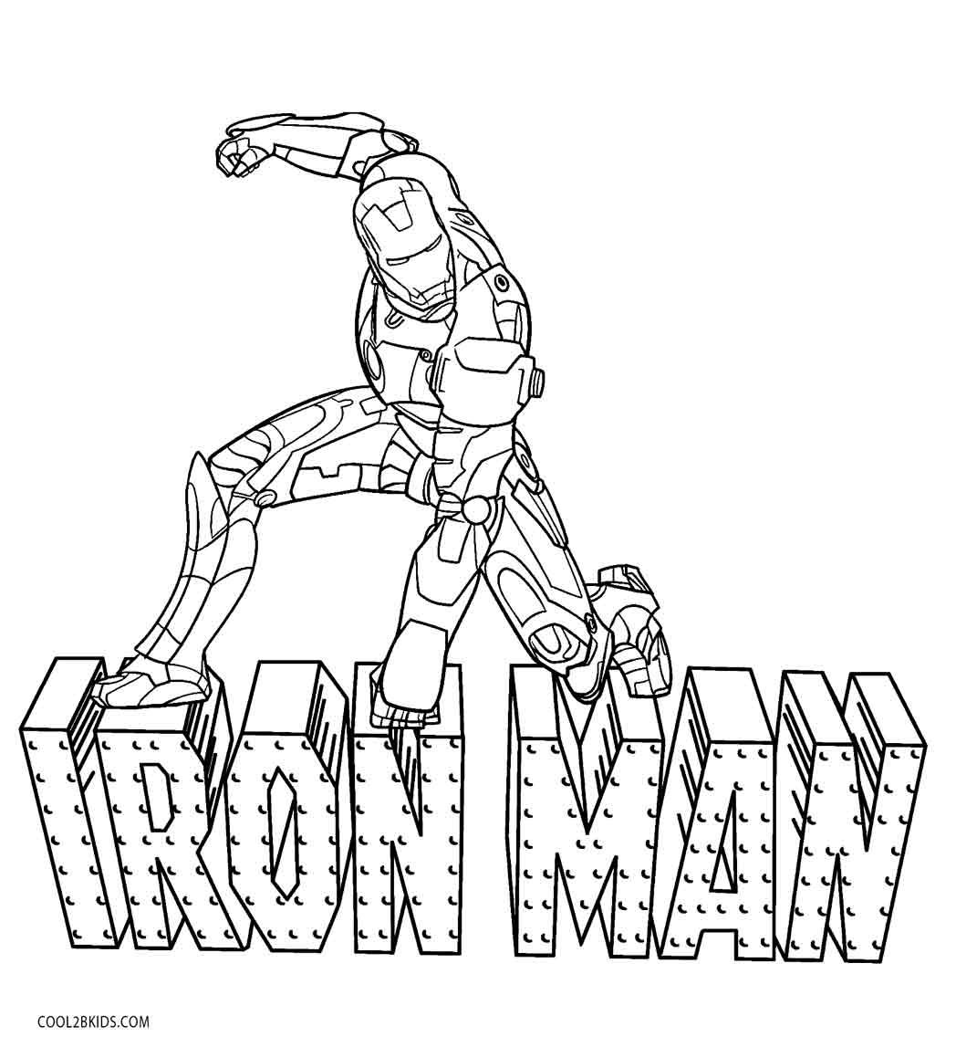 Ironman Coloring Pages Free Printable Iron Man Coloring