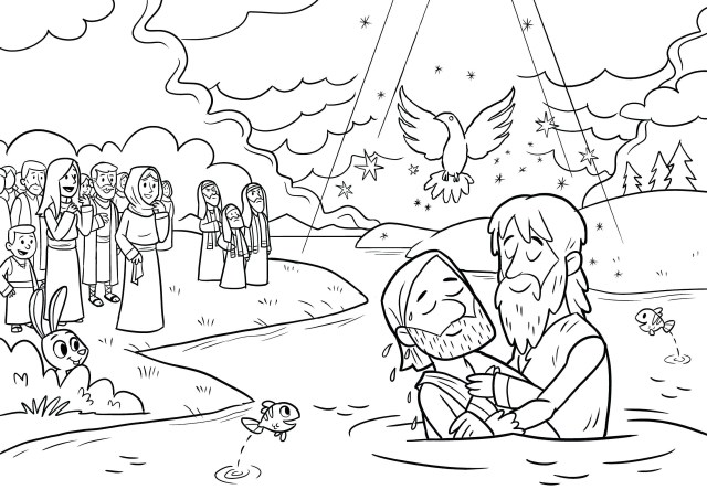 Jesus Coloring Page Baptism Of Jesus Coloring Page Inspirationa 27 Printable Free Sheets