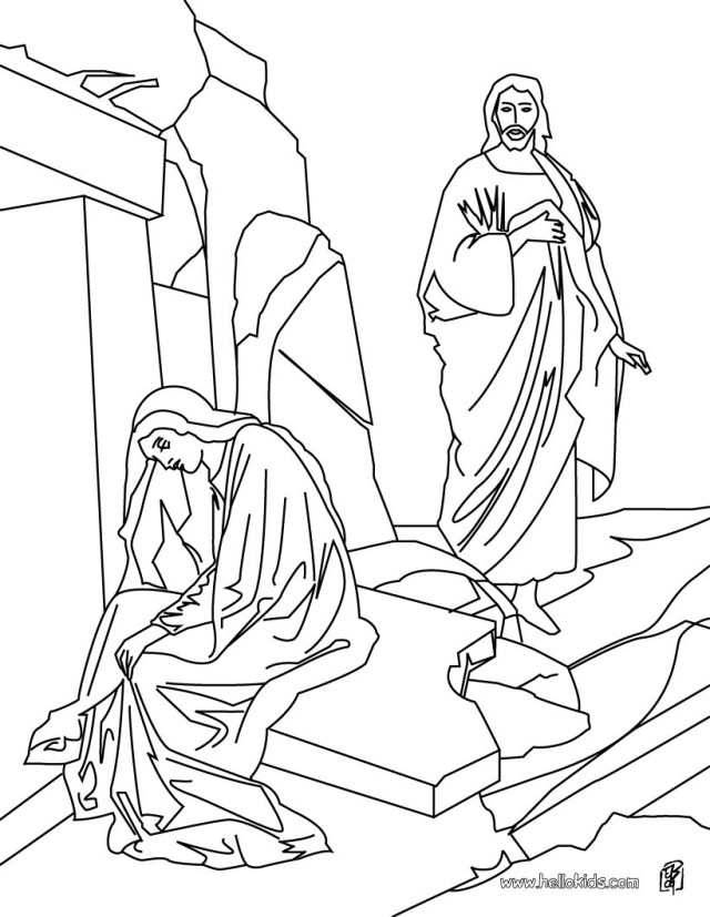 Jesus Coloring Page Resurrection Of Jesus Christ Coloring Pages Hellokids