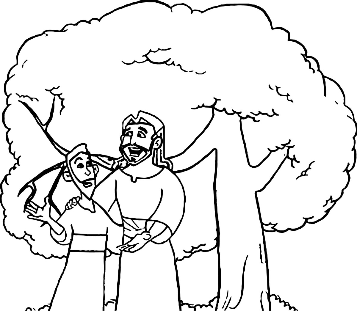 zacchaeus coloring page | Bible coloring pages / New Testament ... | 1046x1200