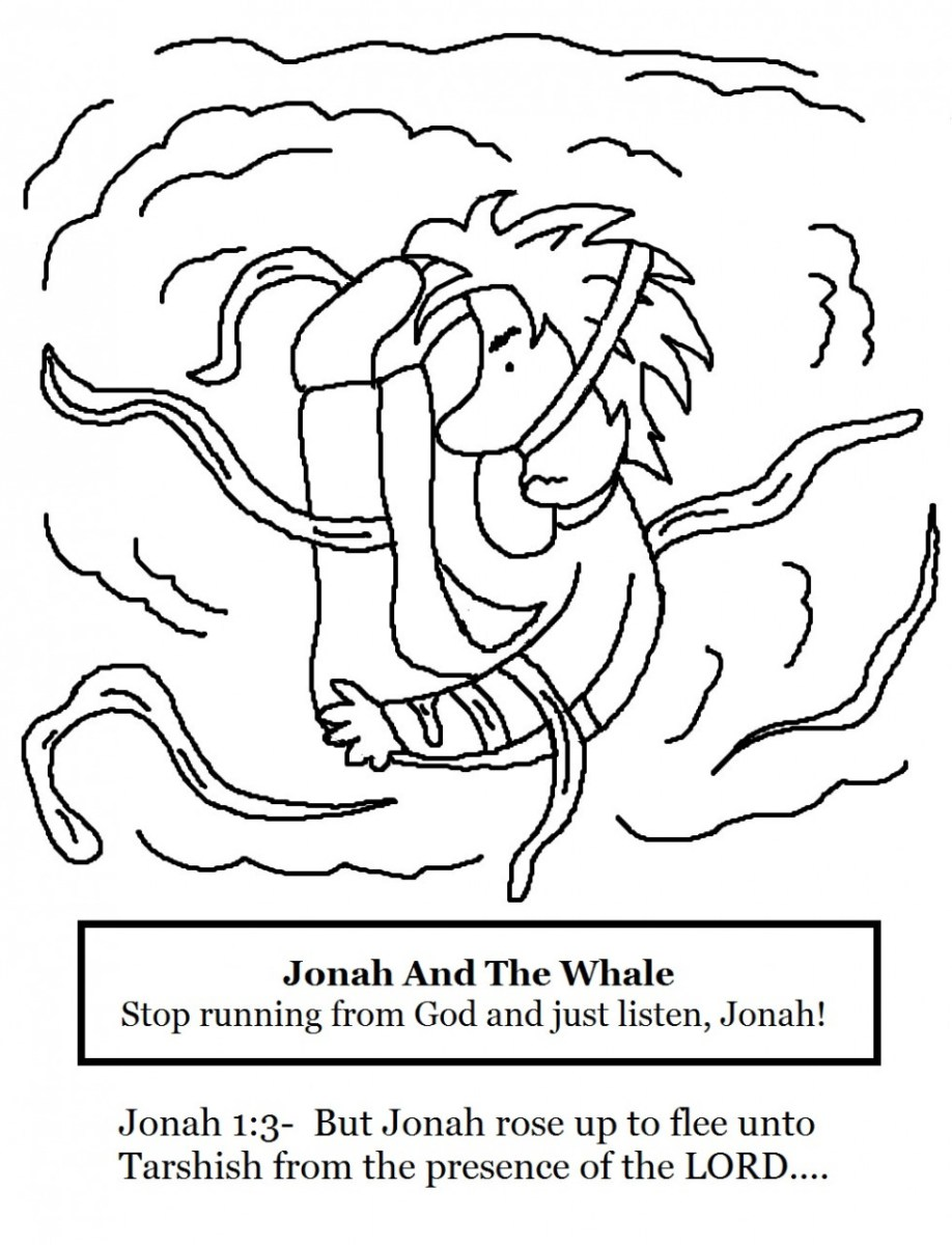 Jonah And The Whale Coloring Page Jonah And The Whale Coloring
