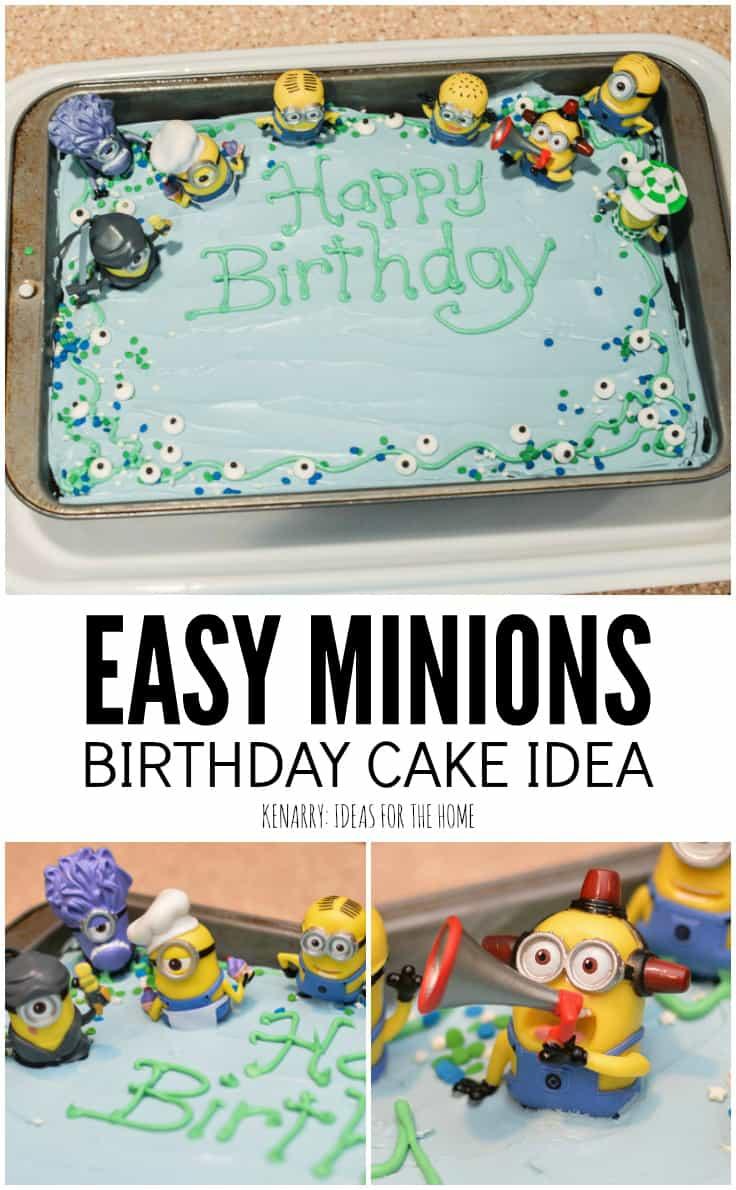 Fabulous Kids Birthday Cake Recipes Minions Birthday Cake An Easy Funny Birthday Cards Online Overcheapnameinfo