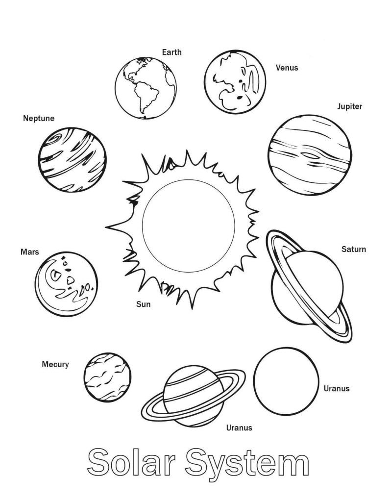 Kids Printable Coloring Pages Worksheet Design Astronomy ...