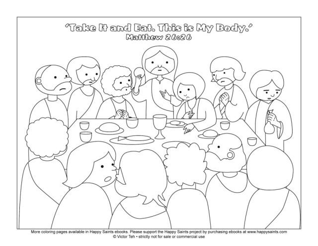 25+ Creative Image of Last Supper Coloring Page - birijus.com