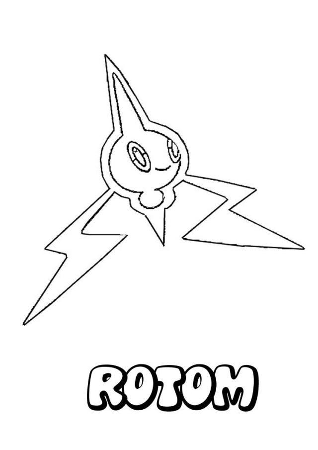 Legendary Pokemon Coloring Pages Rotom Pokemon Coloring Page More Eletric Pokemon Coloring Sheets On