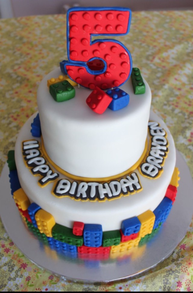 Lego Birthday Cake Ideas Lego Birthday Cake Idea Like Bricks Around Base And Scattered On