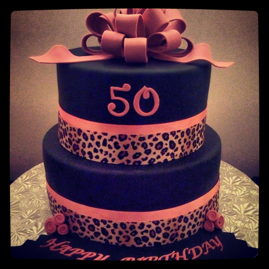 Cool Leopard Birthday Cake Pink Animal Print Birthday Cake Cakecentral Funny Birthday Cards Online Elaedamsfinfo