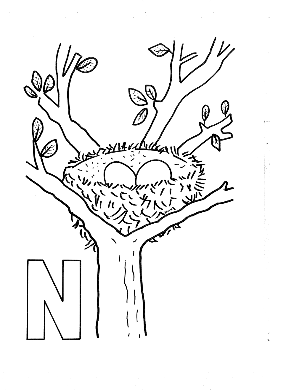 graphic regarding Printable Letter N named Letter N Coloring Web site 5 Least complicated Illustrations or photos Of Cost-free Printable
