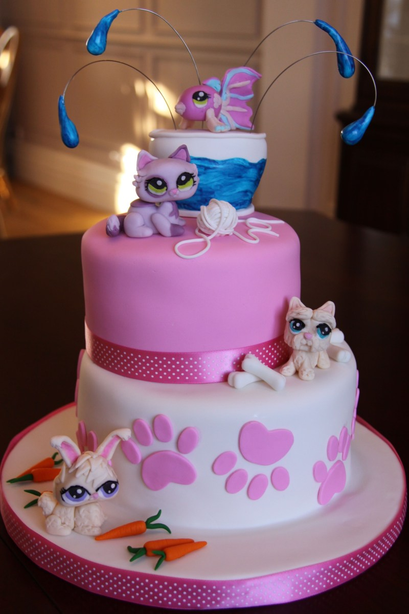 Peachy Littlest Pet Shop Birthday Cake Littlest Pet Shop Birthday Cake Funny Birthday Cards Online Alyptdamsfinfo