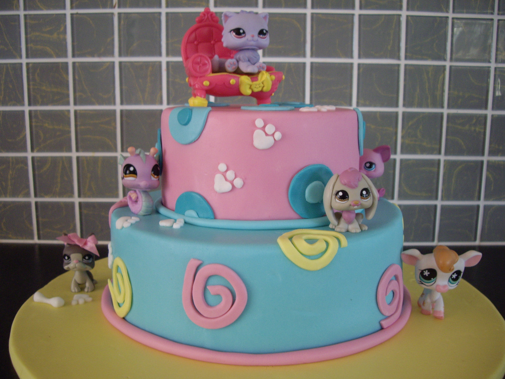 Awe Inspiring Littlest Pet Shop Birthday Cake Littlest Pet Shop Birthday Cake Funny Birthday Cards Online Elaedamsfinfo