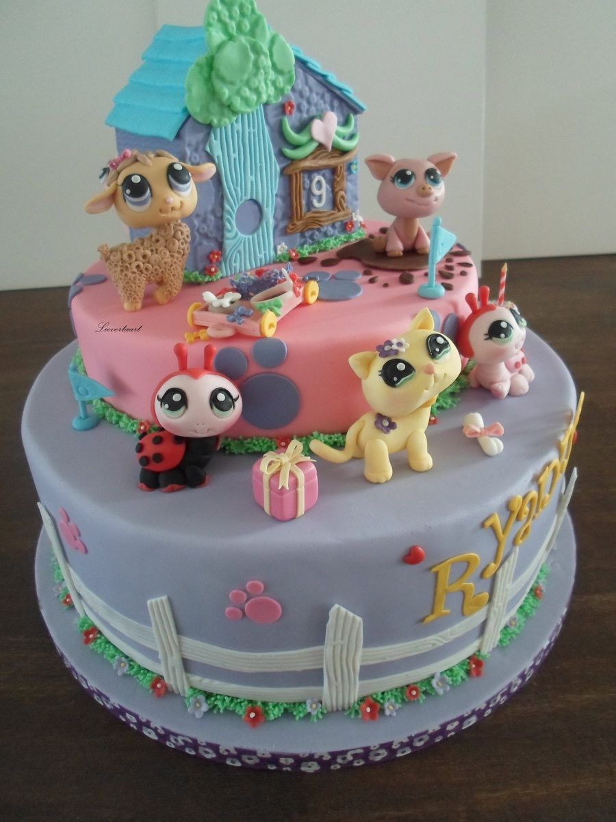 Wondrous Littlest Pet Shop Birthday Cake Littlest Pet Shop Cake Lps Funny Birthday Cards Online Elaedamsfinfo