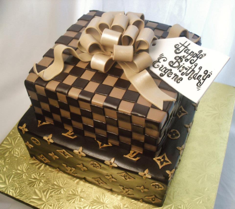 Phenomenal Louis Vuitton Birthday Cake Made Fresh Daily Louis Vuitton Gift Personalised Birthday Cards Veneteletsinfo