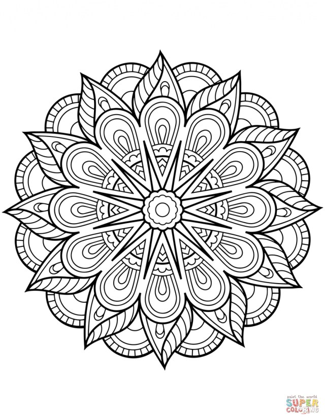 Mandala Coloring Pages Coloring Page Floral Mandalas Coloring Pages Free Page Mandala