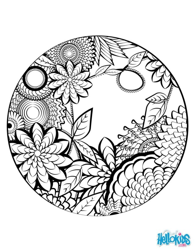 Mandala Coloring Pages Mandala 02 Coloring Pages Hellokids