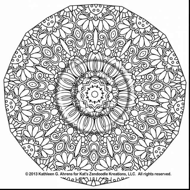 Mandala Coloring Pages Printable Complex Mandala Coloring Pages Printable Gallery Free Books New