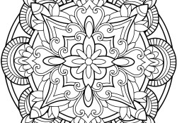 Mandala Coloring Pages Printable Flower Mandala Coloring Page Free Printable Coloring Pages
