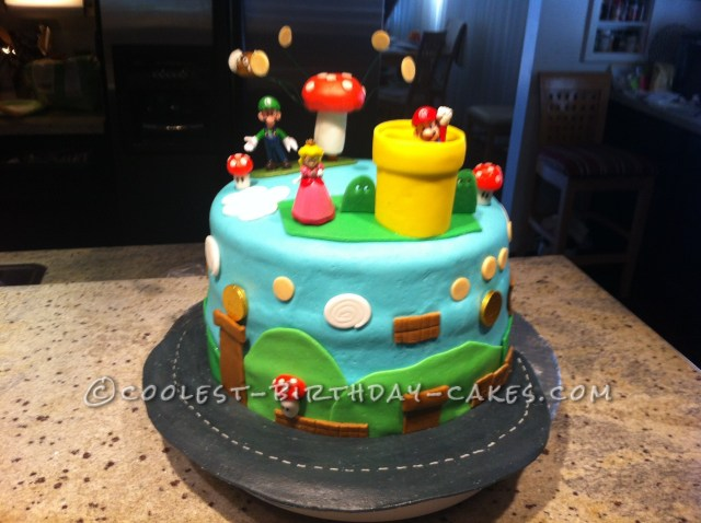 Mario Bros Birthday Cake Cool Animated Mario Brothers Birthday Cake