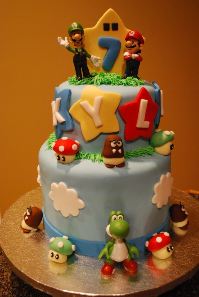 Mario Bros Birthday Cake Mario Cakes Decoration Ideas Little Birthday Cakes