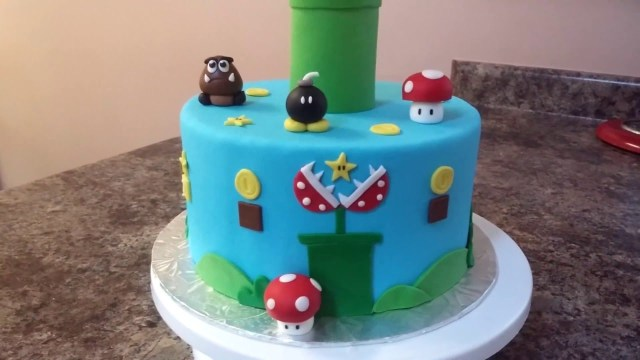 Mario Bros Birthday Cake Super Mario Bros Cake Tutorial Youtube