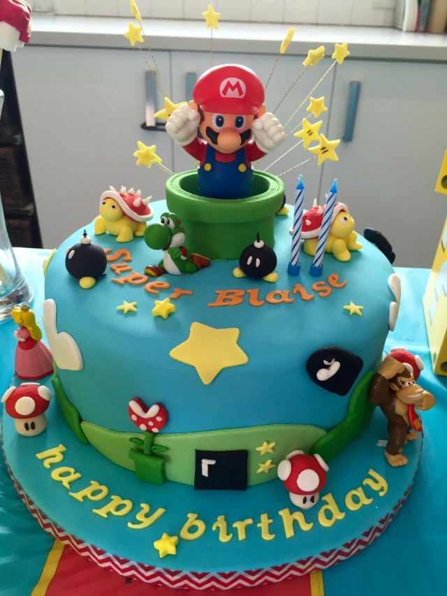 Mario Bros Birthday Cake Super Mario Cake Ideas Cumpleaos Richi Super