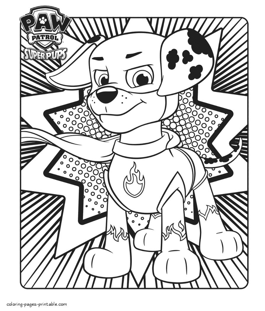 - Marshall Paw Patrol Coloring Page Best Of Kimmidoll Junior
