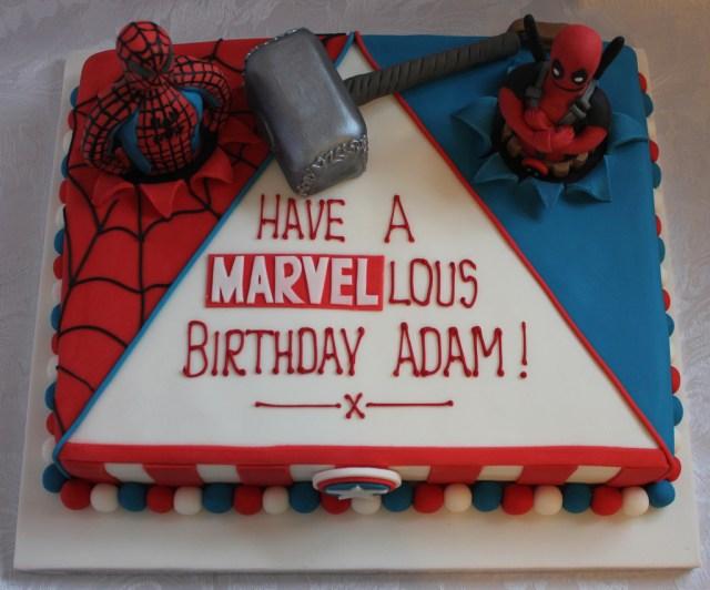 Marvel Birthday Cakes Marvel Comic Birthday Cake Pauls Creative Cakes Flickr