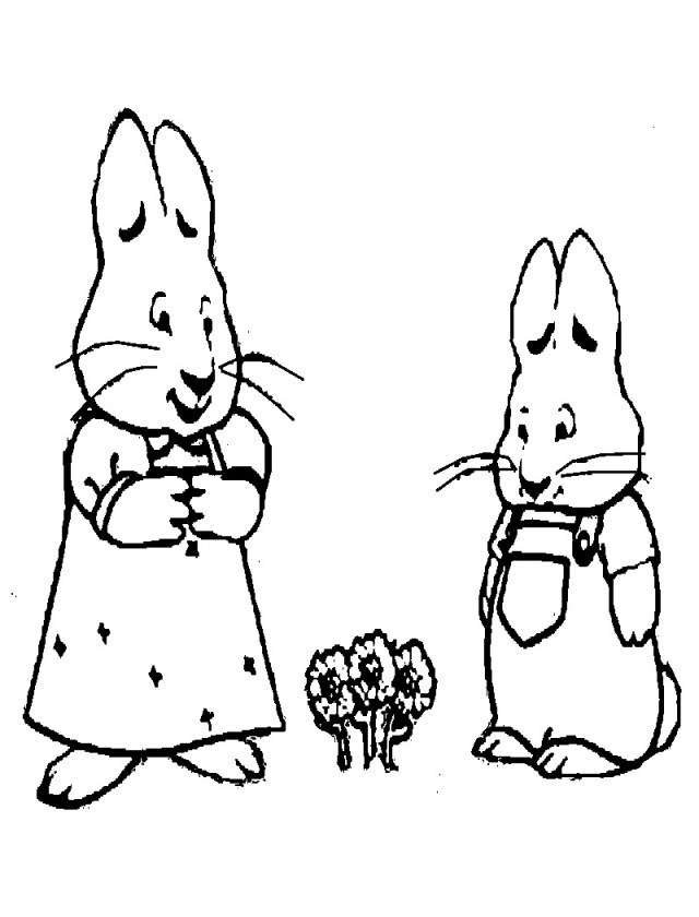 Max And Ruby Coloring Pages Free Printable Max And Ru Coloring Pages For Kids