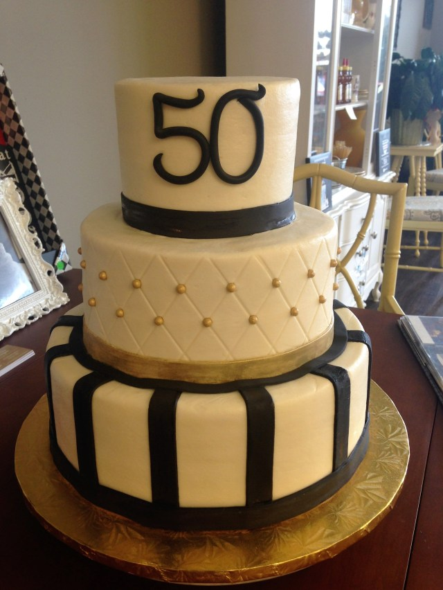 Mens Birthday Cakes Gold And Black 50th Cake 30