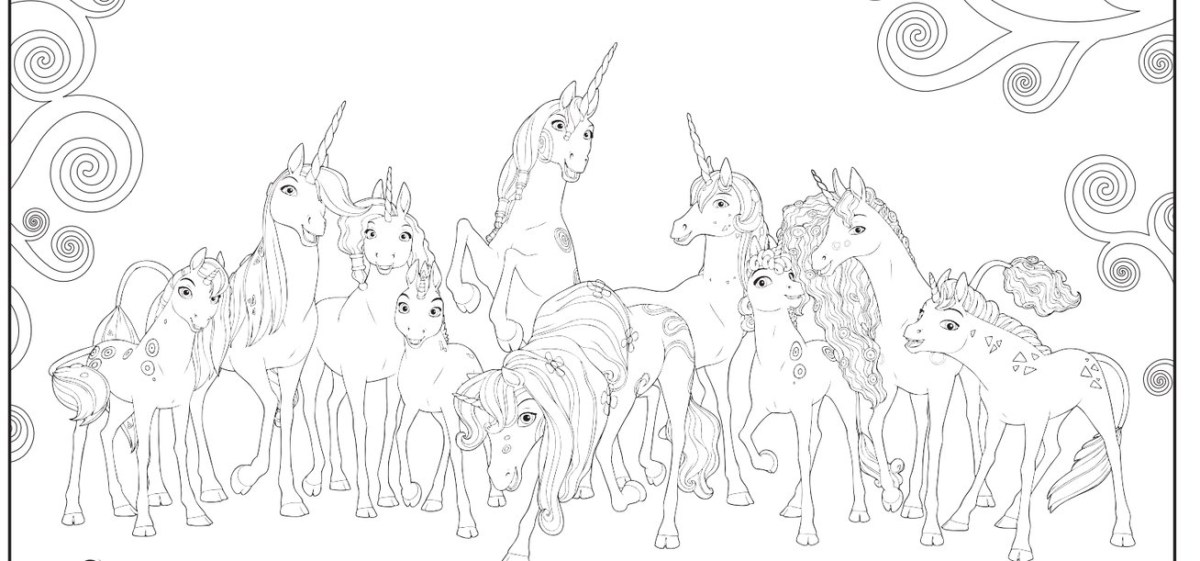 Mia And Me Unicorn Lyria Coloring Pages , Transparent Cartoon ... | 561x1200