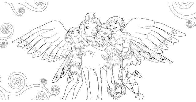 Mia And Me Coloring Pages Mia And Me Free To Color For Children Mia And Me Kids Coloring Pages