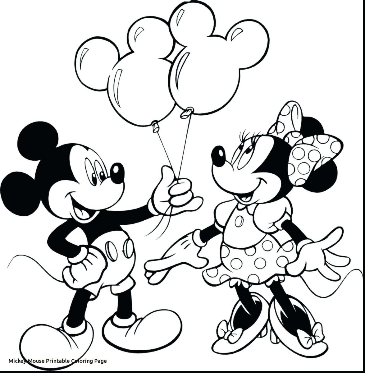 Mickey Mouse Coloring Page Mickey And Minnie Mouse Coloring ...