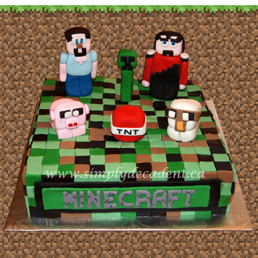 Collections Of Minecraft Creeper Birthday Cake