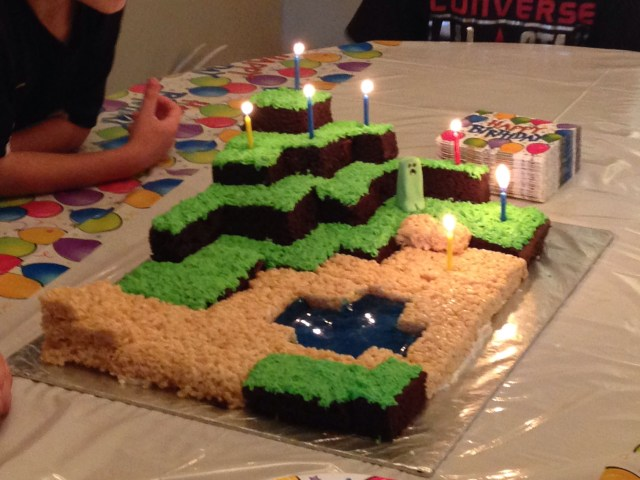 Minecraft Birthday Cake Minecraft Birthday Cake I Maed Dis Pinterest Birthday