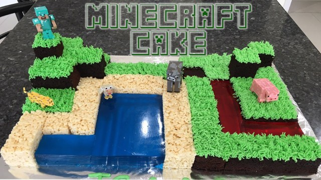 Minecraft Birthday Cake Minecraft Birthday Cake Youtube