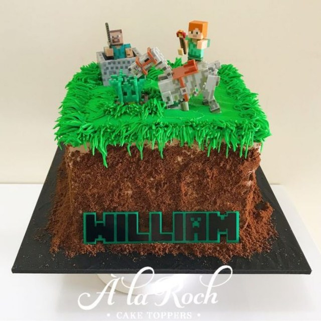 Minecraft Birthday Cake Minecraft Cake La Roch Cakes Sweets