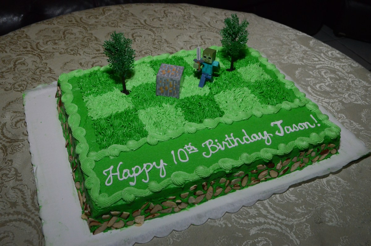 Enjoyable Minecraft Birthday Cake Minecraft Zombie Birthday Cake For Jason Personalised Birthday Cards Veneteletsinfo