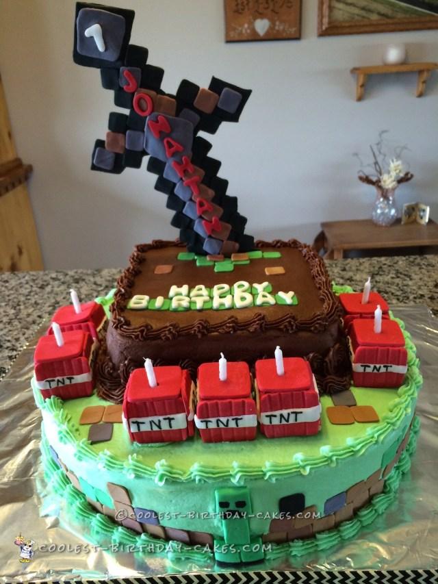 Minecraft Birthday Cakes Crazy For Minecraft Cake