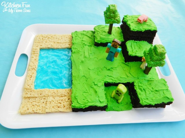 Minecraft Birthday Cakes Easy Minecraft Birthday Party Cake Kitchen Fun With My 3 Sons