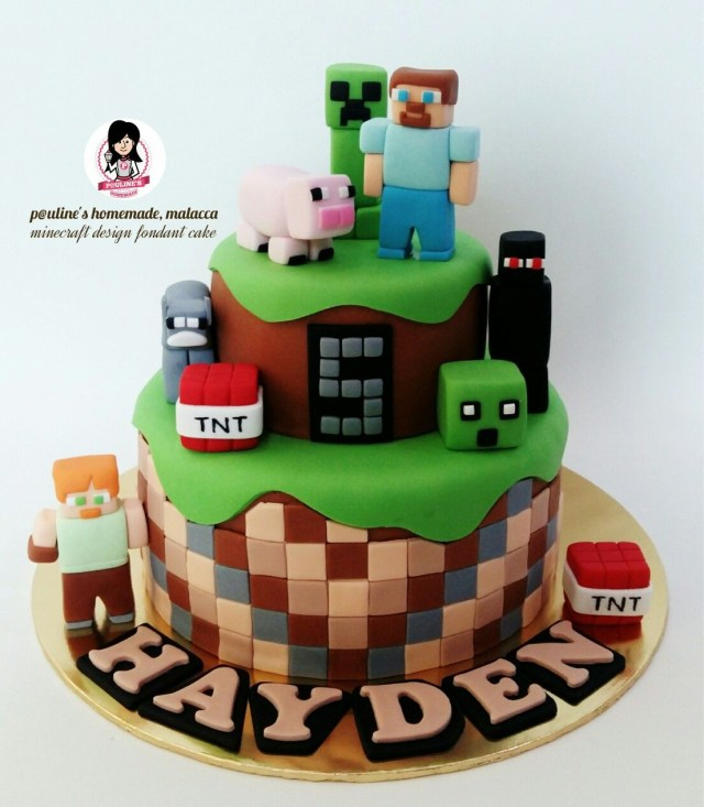 Minecraft Birthday Cakes Minecraft Design Fondant Cake Fondant Pinterest