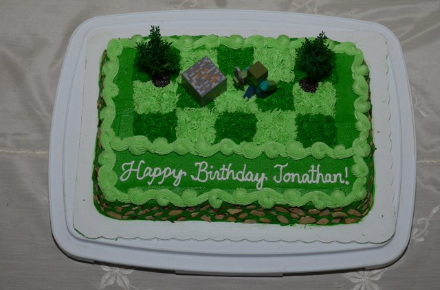 Minecraft Birthday Cakes Minecraft Zombie Birthday Cake For Jonathan Cakecentral