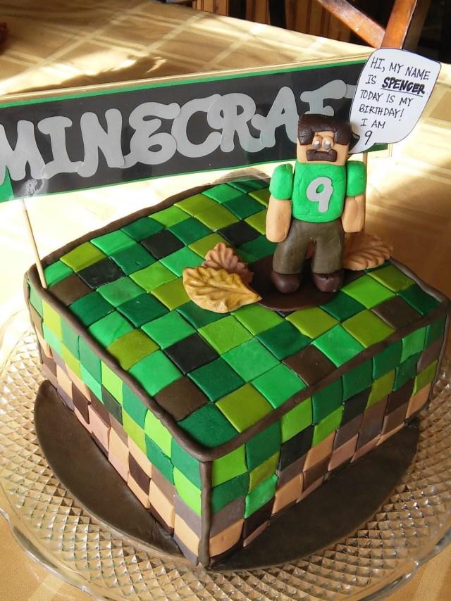 Minecraft Birthday Cakes Simply Projects Minecraft Birthday Cake