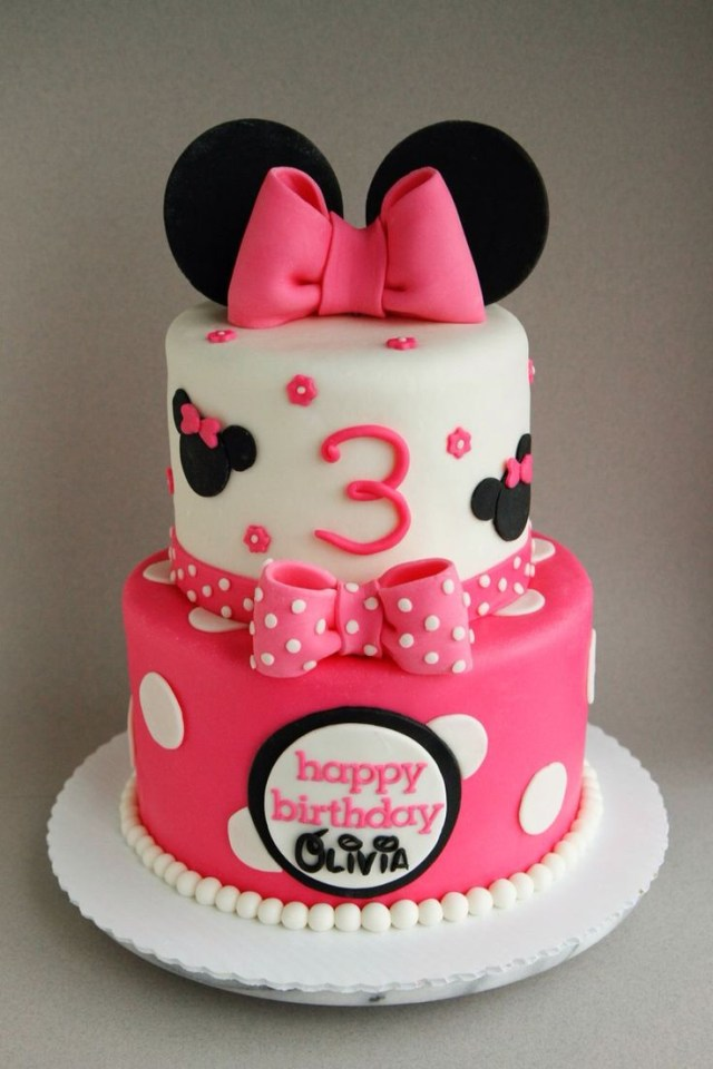 Minnie Mouse Birthday Cakes Happy 3rd Birthday Olivia A 68 Minnie Mouse Cake Filled With