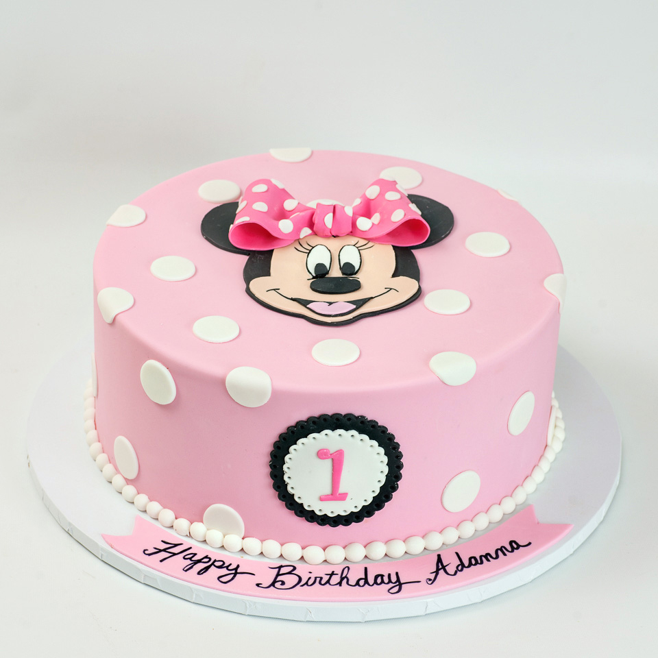 Superb Minnie Mouse Birthday Cakes Kids Birthday Blue Lace Cakes Funny Birthday Cards Online Elaedamsfinfo