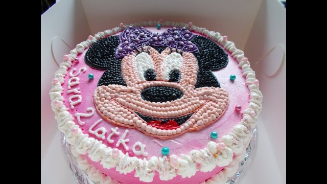 Minnie Mouse Birthday Cakes Minnie Mouse Birthday Cake Youtube