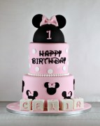Minnie Mouse Birthday Cakes Minnie Mouse First Birthday Cake Lil Miss Cakes