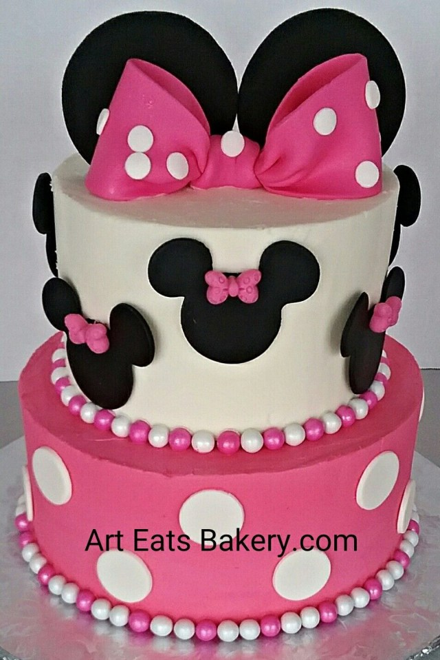 Minnie Mouse Birthday Cakes Pin Art Eats Bakery On Girlls Custom Creative Birthday Cake