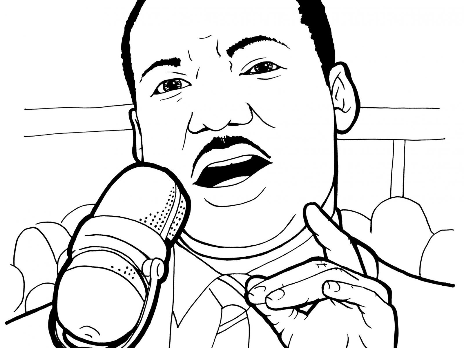 Martin Luther King Coloring Sheet